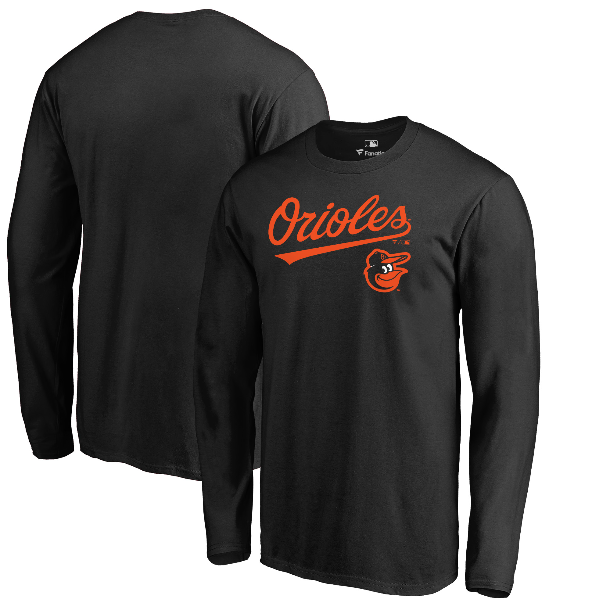 Baltimore Orioles Fanatics Branded Big & Tall Team Lockup Long Sleeve T-Shirt - Black