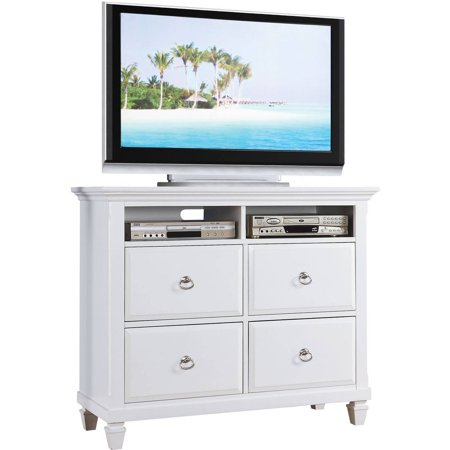ACME Merivale White TV Console for Flat Screen TVs up to 46″
