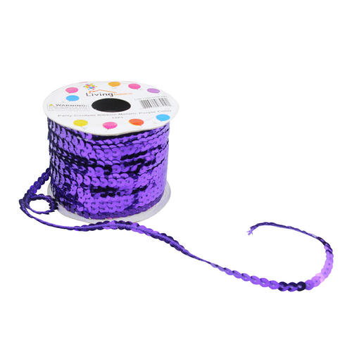 LIVINGbasics™ Party Confetti Ribbon Metallic Color 15Ft - Purple - image 2 de 2