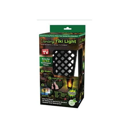 As Seen on TV Dancing Tiki Torch Light - Solar Tiki Torch Outdoor - Outdoor Tiki Decor