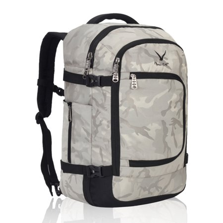 Hynes Eagle Travel Backpack 40L Flight Approved Carry on Backpack Light Camo