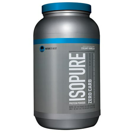 Isopure Zero Carb Protein Powder, Vanilla, 50g Protein, 3 (High Fat Low Carb Low Protein Foods)