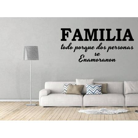 Vinilo Decorativo Para Pared Familia Todo Porque Dos Personas Se Enamoranon SQ14](Articulos Decorativos Para Halloween)