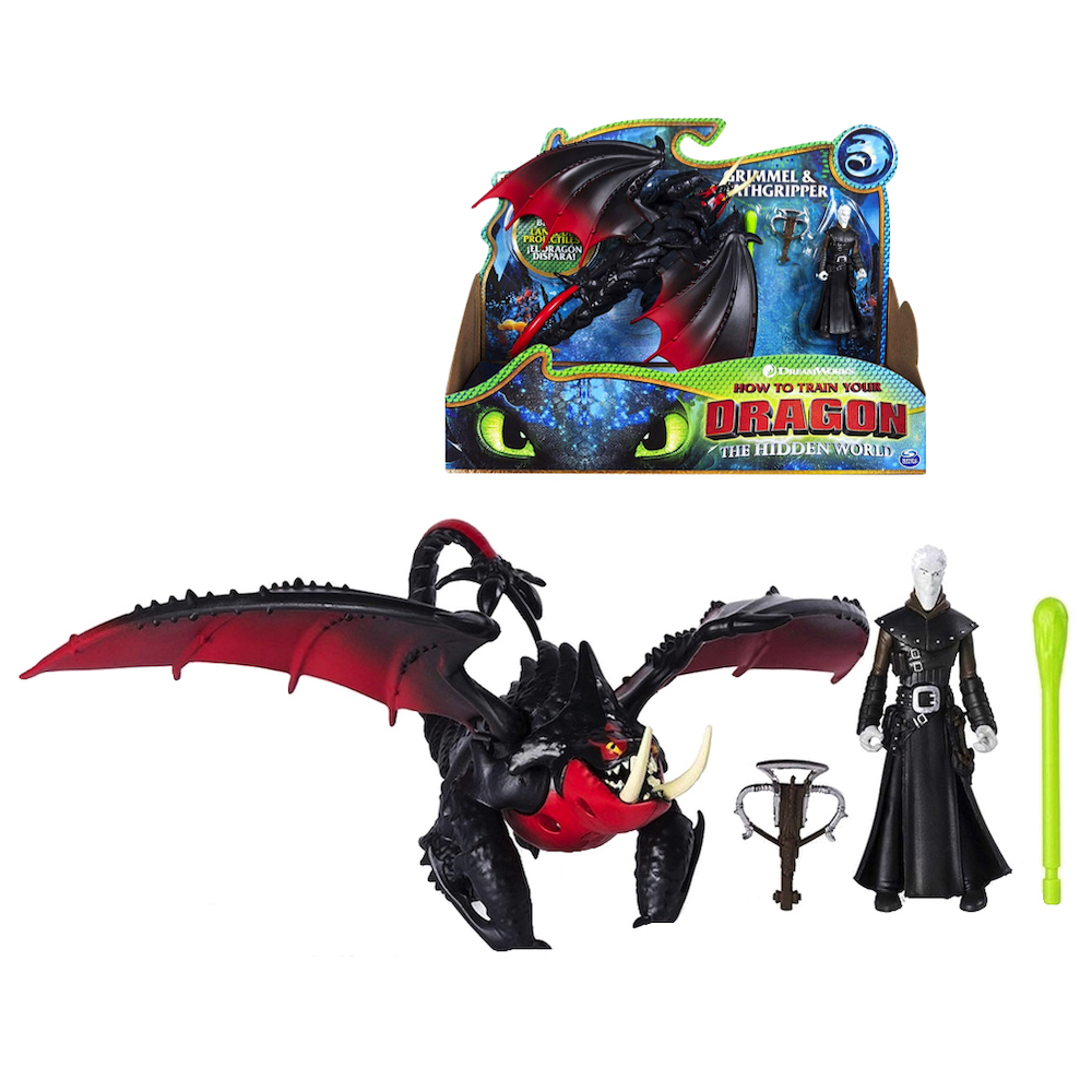 Armored Viking Figure DreamWorks Dragons Deathgripper and Grimmel