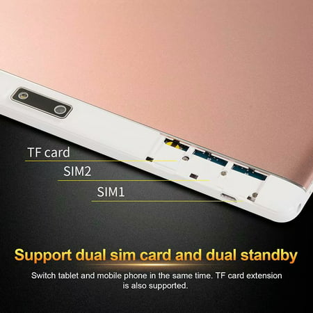10.1inch 8G+512G WiFi Tablet Android 8.0 HD 1960 x 1080 Bluetooth Game Tablet Computer With Dual Camera Support Dual SIM Card And Dual Standby Rose Gold - image 5 of 9