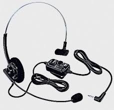 Yaesu SSM_63A VOX Headset For FT_2DR, FT_60R Radios