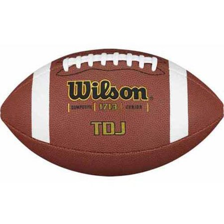 Wilson Junior Size TDJ Premium Composite Leather Football Auburn Tigers Leather Football