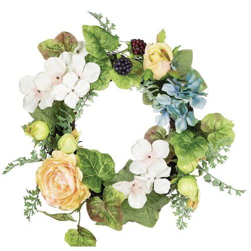 August Grove Hydrangea 14'' Polyester Wreath