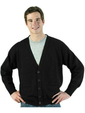 Edwards Garment Men's V Neck Cardigan with Pockets