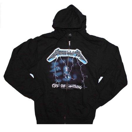 76321c19 Metallica Ride the Lightning Zip Front Hoodie Small - Walmart.com
