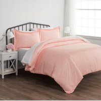 Noble Linens Premium Ultra Soft Pink Buds Pattern 3 Piece Duvet Cover Set