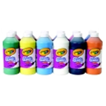 Crayola Non-Toxic Liquid Washable Tempera Paint Set - 1 Pt Squeeze Bottle, Set 12