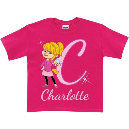 Personalized Alvin and the Chipmunks Girls' Initial T-Shirt, Pink](Alvin Chipmunk Costume)