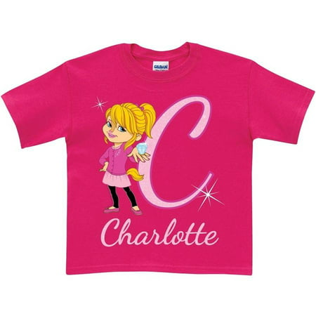 Personalized Alvin and the Chipmunks Girls' Initial T-Shirt, Pink](Alvin And Chipmunks Costume)