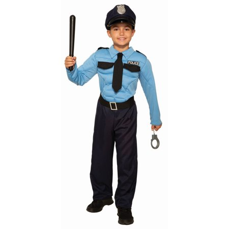 Halloween Police Hero Child Costume - Police Novelties