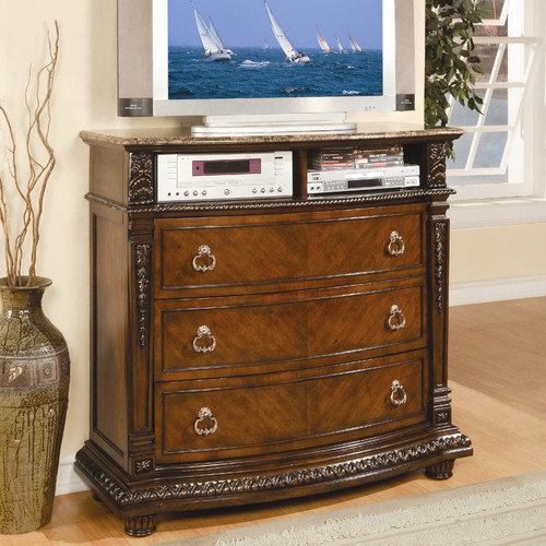 Woodhaven Hill Palace 3 Drawer Media Chest