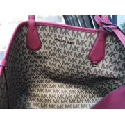 032b7148b09f NWT Michael Kors Candy Large Reversible Tote Brown Khaki Signature Cherry  Red Image 8 of 12