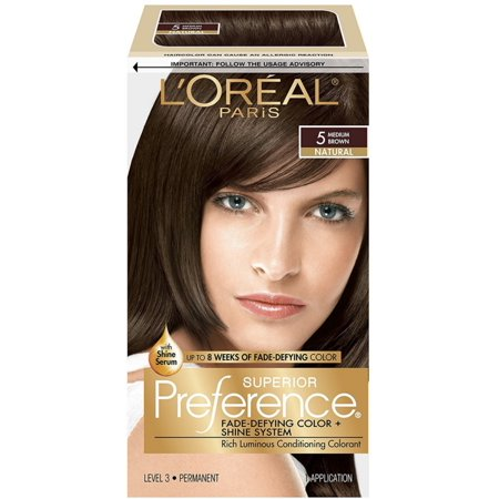 L'Oreal Superior Preference Permanent Hair Color, 5 Medium Brown 1 ea](One Direction Halloween Preferences)