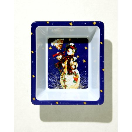 Chef Craft Festive Christmas Dish w Snowman 6