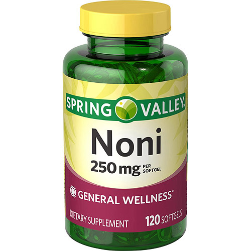 Spring Valley Noni Dietary Supplement Softgels, 250 mg, 120 count