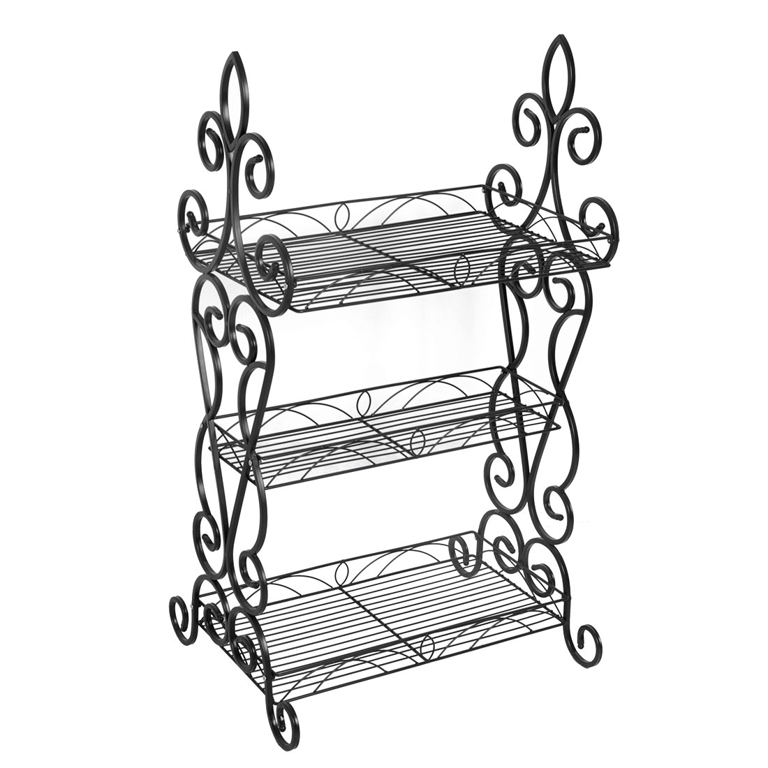 Classic Metal Plant Stand 3-tier Potted Flower Holder
