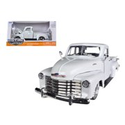 1953 Chevrolet 3100 Pickup Truck White 1/24 Diecast Car Model by Jada