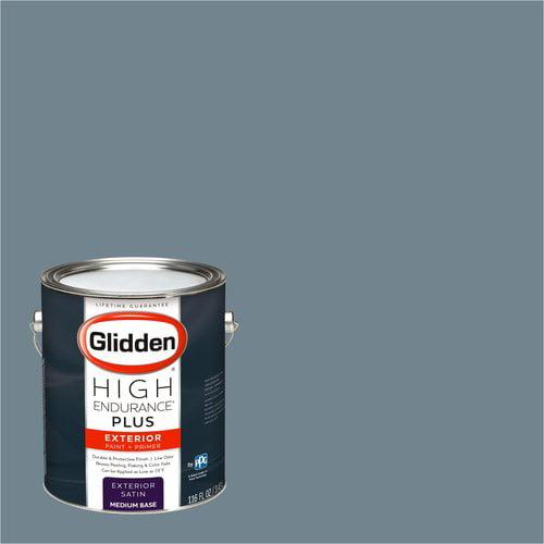 Glidden High Endurance Plus Exterior Paint and Primer, Night Sky Grey , #90BG 25/079