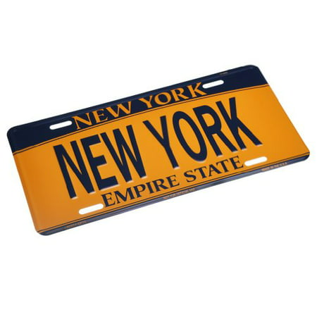 NEW YORK - New York License Plate NY Car Plate NYC Metal Empire Gold Plate NYC Plate Souvenir NY License Plates Decor