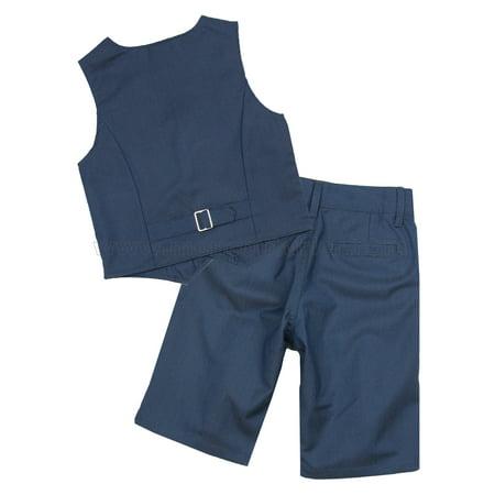 Deux par Deux Boys' Dark Blue Vest and Shorts Cool Class, Sizes 2-10 - 10 - image 1 de 2