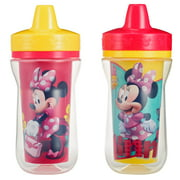 Disney Minnie Mouse Insulated Hard Spout Sippy Cups With One Piece Lid, 9 Oz, 2 Pk