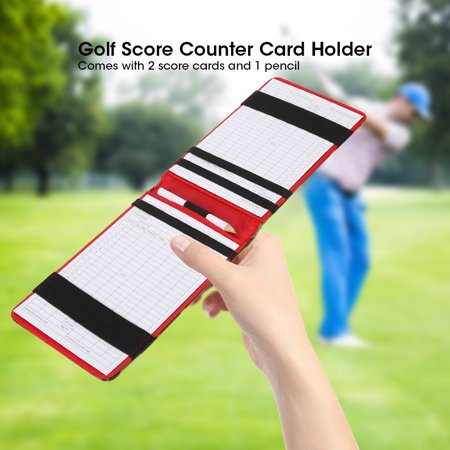 Hilitand Camouflage Golf Score Counter Keeper Card Holder Gift Sports Accessories with Pencil, Golf Counter Card
