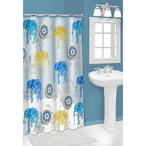3D Elephant PEVA Shower Curtain
