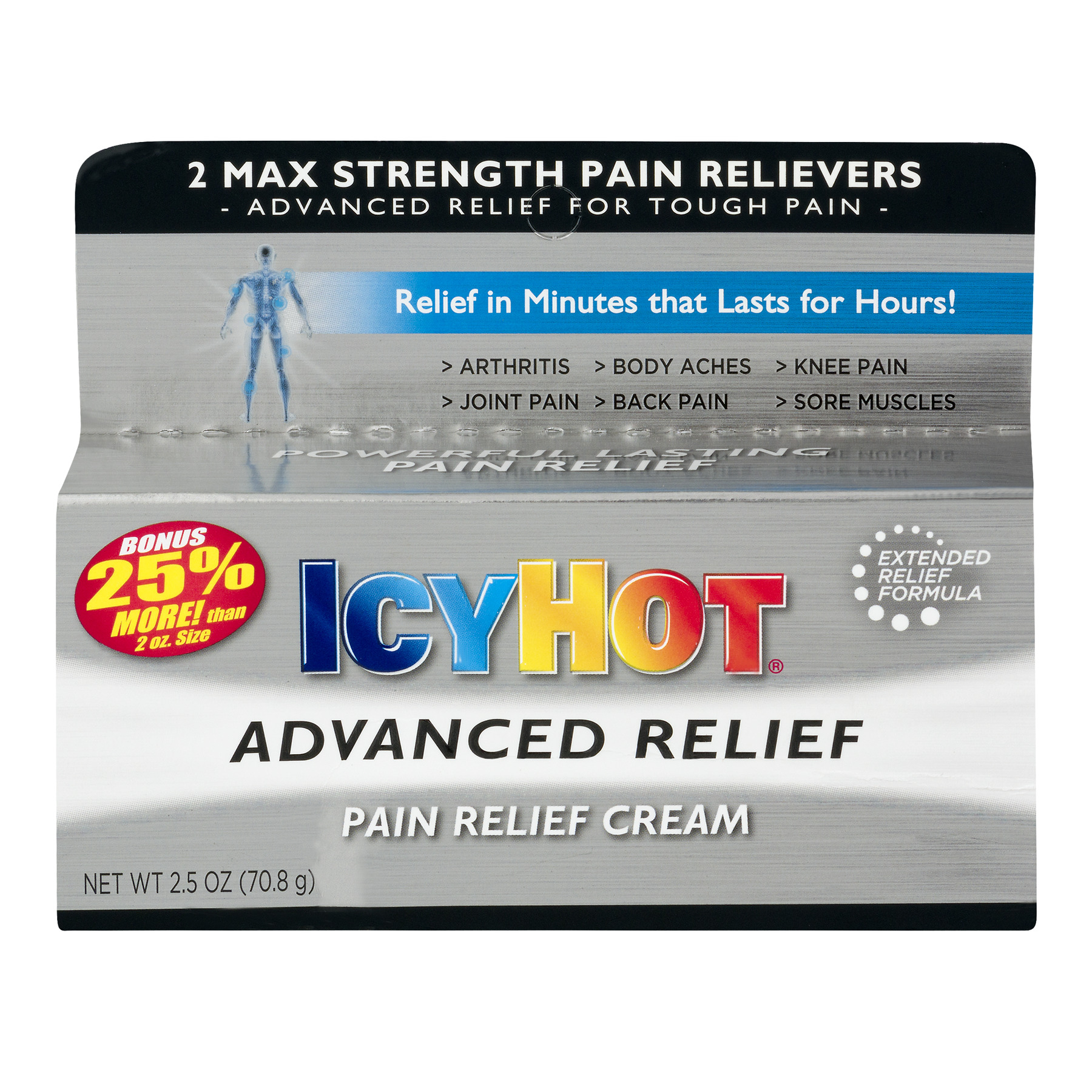 Icy Hot Pain Relief Cream, 2.5 OZ
