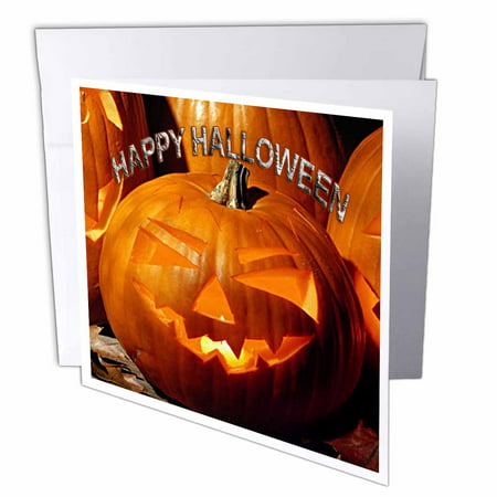 3dRose Happy Halloween, Greeting Cards, 6 x 6 inches, set of 12