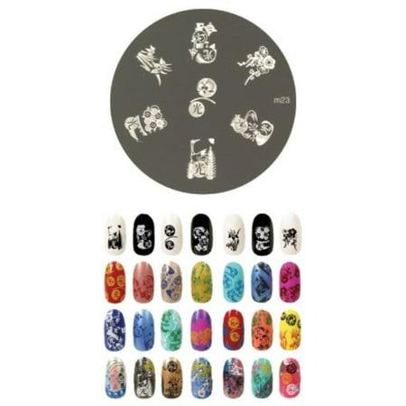 Konad Stamping Halloween (konad stamping nail art image plate -)