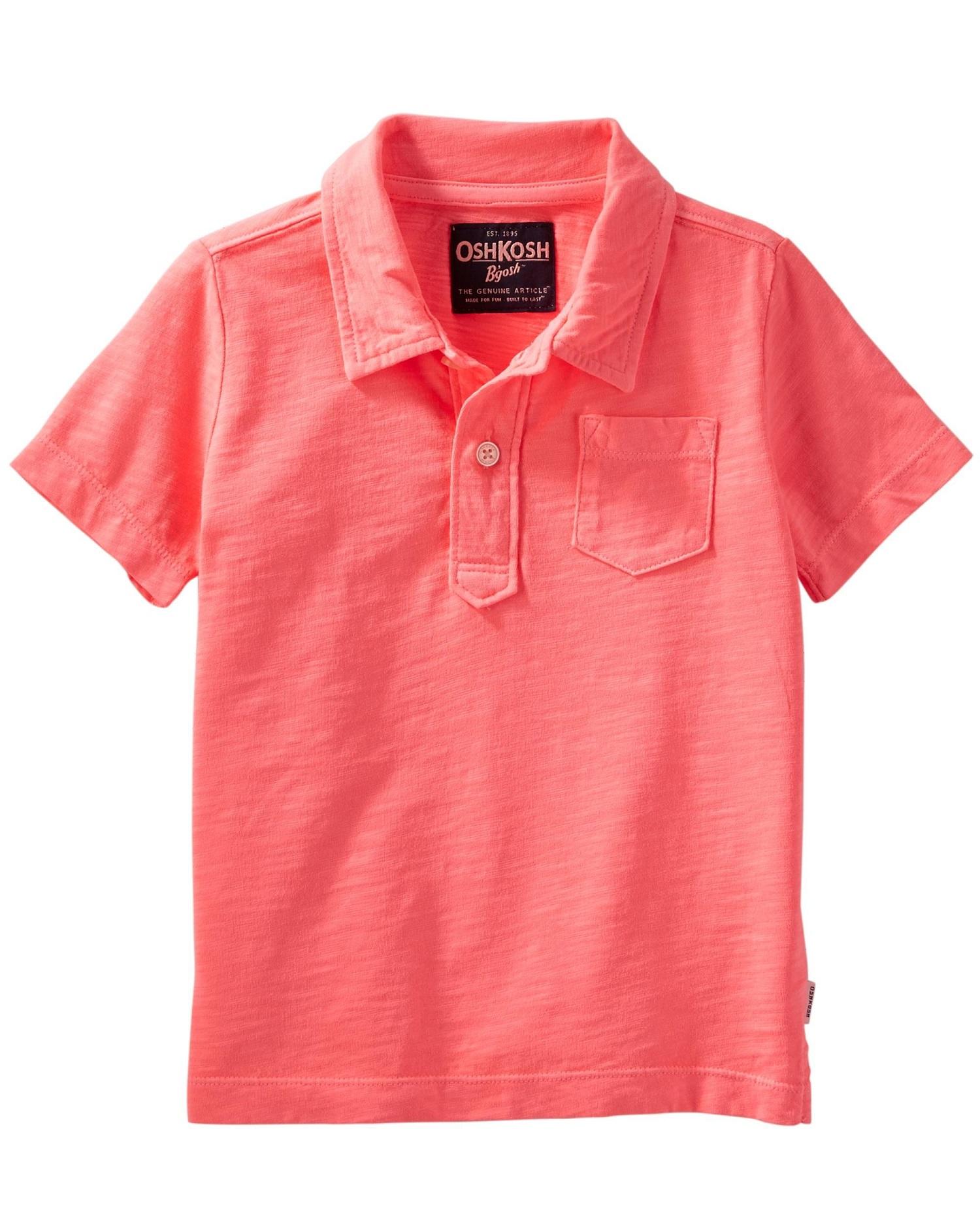 OshKosh B'gosh Little Boys' Neon Jersey Polo