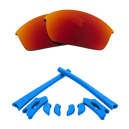 SEEK Lenses Kit Compatible for Oakley FLAK JACKET Polarized Red & Blue