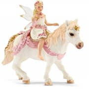 Delicate Lily Elf, Riding a Pony by Schleich - 70501