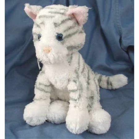Kohls Cares For Kids Grey and White Striped Kitty KOHLS PLUSH GREY AND WHITE STRIPED KITTENbrbPROP 65 WARNING:/bThis product can expose you to some kind of chemicals, which is known to the State of California to cause cancer For more information,SKU:ADIB0042Q1NEA