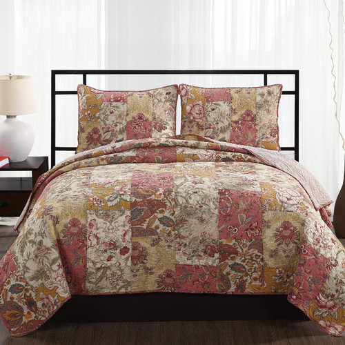 American Traditions Walden 3 Piece Quilt Set