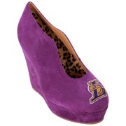 Los Angeles Lakers Cuce Shoes Women's Spirited Wedge Pumps - Purple
