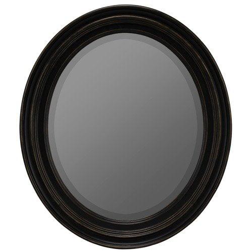Cooper Classics Booker Wall Mirror in Distressed Black