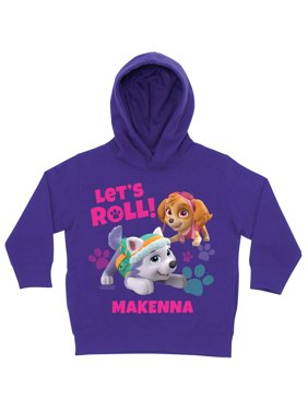 Personalized PAW Patrol Let's Roll Toddler Purple Hoodie