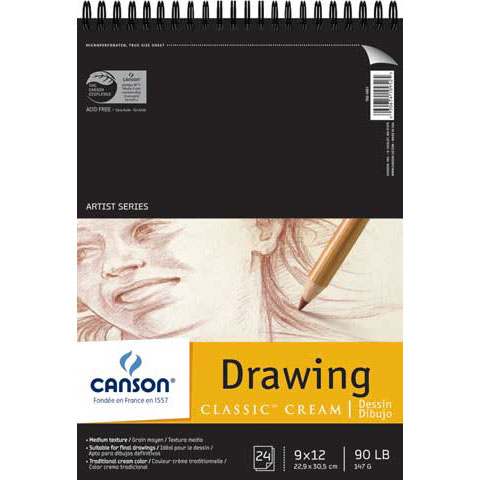 "Canson - Artist Series Classic Cream Drawing Pad - 14"" x 17"""