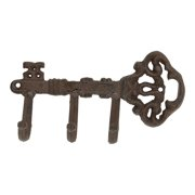 Ornate Old Fashioned Shaped Key Rack Holder Wall Decor Cast Iron