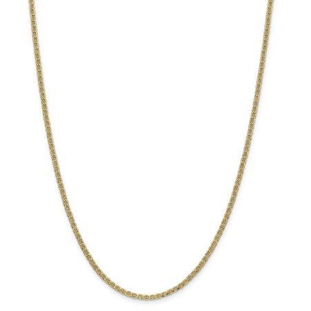 Gold Anchor Chain (Finejewelers 20 Inch 14k Yellow Gold 2.40mm Anchor Chain Necklace)