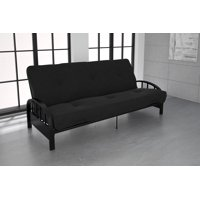 Product Image Dhp Aiden Black Metal Futon Frame With Coil Full Mattress Multiple Colors And Sizes