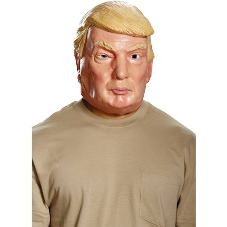 Donald Trump the Republican Presidential Candidate Deluxe Mask Halloween Costume Accessory - Halloween Costume White Mask
