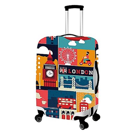 London-Primeware Luggage Cover - Medium (London Luggage)