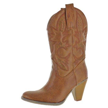5a6e3130785 Volatile Womens Nightbloom Western Block Heel Cowboy, Western Boots